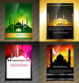 attractive set of brochure of eid festival vector image vector image