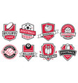 ball sports logo badges for american football vector image
