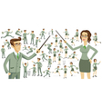 Business people business motion women men vector image