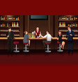 business people in a bar vector image