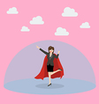Business woman superhero with protection power vector image vector image