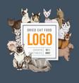 cat food emblem vector image vector image