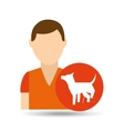 character pet training dog peeing vector image