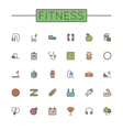 Colored Fitness Line Icons vector image vector image