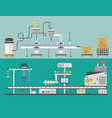 container terminal production transporter vector image vector image