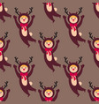 cute deer kids wearing christmas costumes vector image