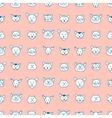 Cute seamless pattern with hand-drawn cat faces vector image vector image