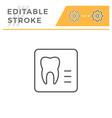 dental x-ray editable stroke line icon vector image vector image