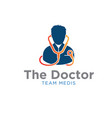 doctor logo designs with stethoscope logo designs vector image