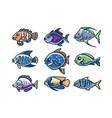 fish cartoon vector image