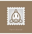 Fish stamp Animal head vector image