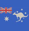 flag kangaroo vector image