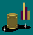 flat icon on theme arabic business oil chart vector image vector image