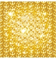 Gold chain seamless abstract pattern vector image vector image