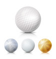 golf ball set 3d realistic vector image vector image