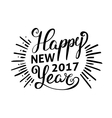 happy new 2017 year holiday vector image vector image