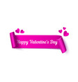 happy valentines day ribbon with typography vector image