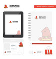 hat business logo tab app diary pvc employee card vector image vector image