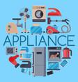 Home appliances round pattern