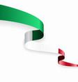 italian flag wavy abstract background vector image