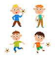 little boys playing vector image vector image