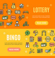 lotto signs banner horizontal set vector image vector image