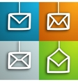 Mail envelopes set vector image vector image