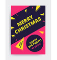 Merry christmas New Year design vector image vector image