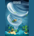 natural disasters tornado composition vector image vector image