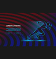 neon running man sport background for vector image vector image