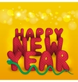 New Years card with snake vector image
