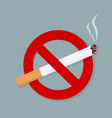 no smoking sign isolated on grey background vector image