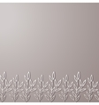 Ornamental seamless border vector image
