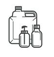 packaging plastic bottles cosmetics or vitamins vector image