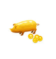pig and coin financial deposit concept vector image vector image