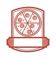 pizza restaurant emblem icon vector image
