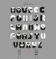 romantic cipher text you are my gentleman vector image