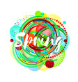 round spring banner template abstract vector image