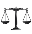 scales of justice symbol vector image