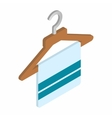 Scarf on coat-hanger isometric 3d icon vector image vector image