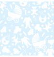 Seamless Blue Baby Background vector image vector image