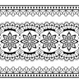 seamless lace design - black and white vector image vector image