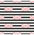 Seamless pastel pink bows black white background vector image vector image