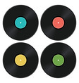 set music retro vinyl record icons vector image vector image
