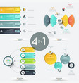 set of 4 creative infographic design templates vector image vector image
