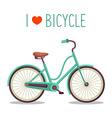 Simple bicycle design vector image