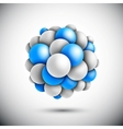 Sphere in form of the molecule vector image vector image