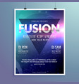 stylish modern music flyer design template vector image vector image