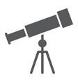 telescope glyph icon school and education vector image vector image