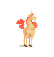 unicorn ancient mythical creature cartoon vector image vector image